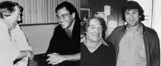Georges Delerue avec Oliver Stone en 1986 et Robert de Niro en 1981  (© www.georges-delerue.com)