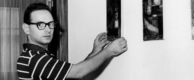 Ennio Morricone chez lui, à Rome, en 1966