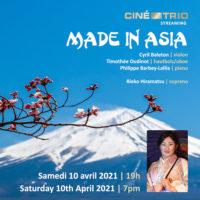 Made in Asia : laissez le Ciné-Trio vous déconfiner la tête L'ensemble revient pour un nouveau concert en ligne le 10 avril prochain : dépaysement garanti !