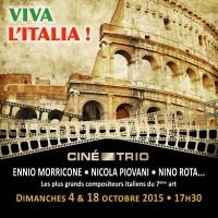 Nouveau voyage en Italie pour le Ciné-Trio « Viva l'Italia ! » : deux nouveaux concerts pour célébrer la musique de film