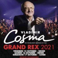 Vladimir Cosma en concert au Grand Rex… encore ! Après deux reports, le célèbre compositeur sera de retour à Paris en octobre 2021